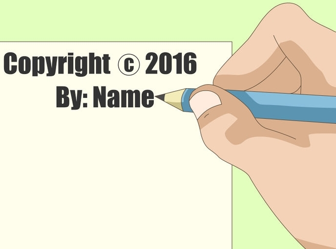 use the following signature to protect your copyright